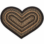 Black Forest Heart Shaped Rug