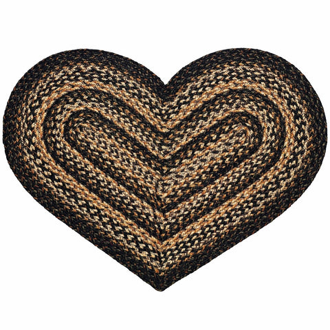 "Black Forest 20''x30"" Braided Heart Rug, BR-251HRT"
