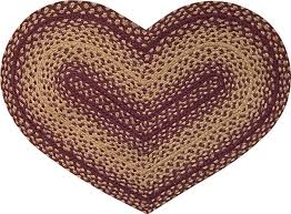 Vintage Star Heart Shaped Rug