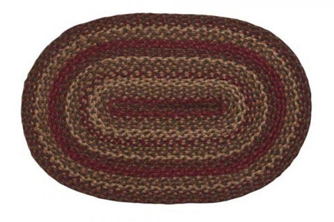 "Cinnamon Braided Rugs ,BR-175 20""x30"" to 8'x10' Oval"