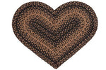 Ebony 20'x30' Heart Shaped Rug
