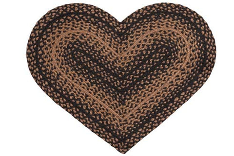 Ebony Heart Shaped Rug