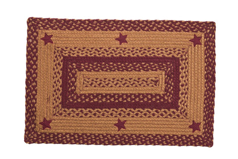 Star Wine Rectangle Rug