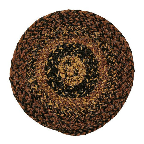 Cappuccino Braided Rug Trivets - Set of 4, BR-201TRV