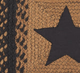 "Country Star Black Braided Rugs, BR-203 20""x30"" to 8'x10' Rect."