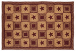 Country Star Wine Rectangle Rug