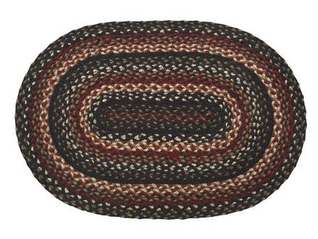 "Tartan Braided Rugs 20"" x 30"" to 8'x10' Oval Natural Jute Material