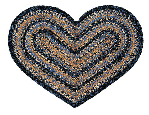 River Shale Heart Shaped Rug