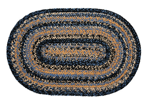 "River Shale Braided Rugs ,BR-246 20""x30"" to 8'x10' Oval"
