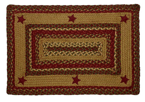 Cinnamon Star Rectangle Rug