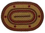 "Cinnamon Star Braided Rugs ,BR-253 20""x30"" to 8'x10' Oval"