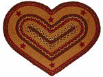 Cinnamon Star Heart Shaped Rug