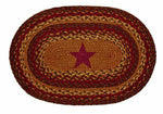 Cinnamon Star 10'x15' Braided Rug Swatches - Set of 4, BR-253SWT