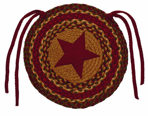 Cinnamon Star Chair Pads-Set of 4