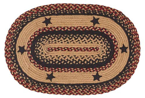 "Blackberry Star Braided Rugs, BR-263 20""x30"" to 5'x8' Oval"