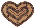 "Blackberry Star 20""x30"" Braided Heart Shaped Rug, BR-263HRT"