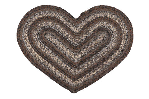 Night Shadow Heart Shaped Rug