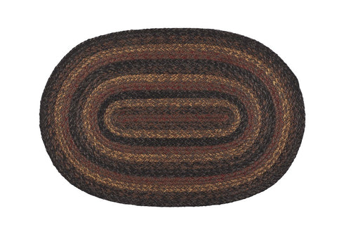 "Slate Braided Rugs ,BR-271 20""x30"" to 8'x10' Oval"
