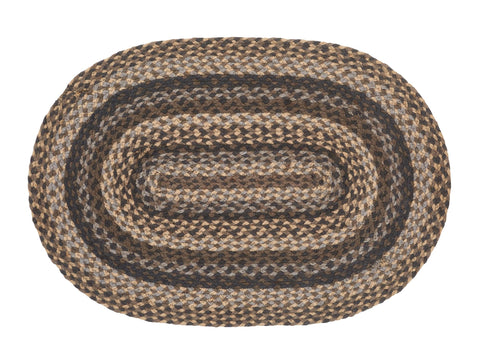 Farmyard 10'x15' Braided Rug Swatches - Set of 4