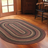 "Blackberry Braided Rugs 20"" x 30"" to 8'x10' Rect. Natural Jute Material