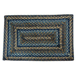 "Denim Braided Rugs 20"" x 30"" to 8'x10' Rect. Natural Jute Material