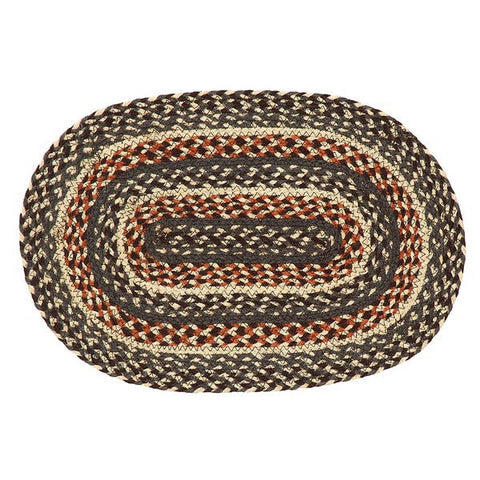 "Loft Braided Rugs 20"" x 30"" to 8'x10' Oval Natural Jute Material