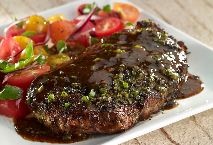 Pan Fried Herb Crusted Ribeye