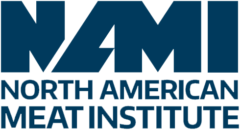 Blue North American Meat Institute Logo for Animal Welfare Regulations