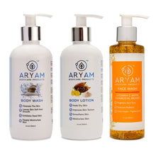 Load image into Gallery viewer, SKIN CARE COMBO WITH VITAMIN C FACE WASH - AryamBodycare