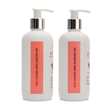 Load image into Gallery viewer, SHAMPOO & CONDITIONER COMBO- RED ONION (300 ML EACH) - AryamBodycare