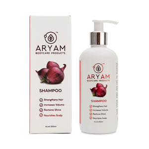 SHAMPOO- RED ONION AND ARGAN OIL (300 ML) - AryamBodycare