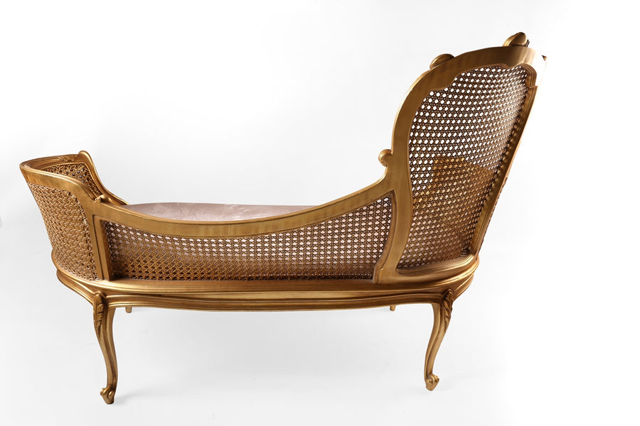 Queen Anne traditional chaise lounge