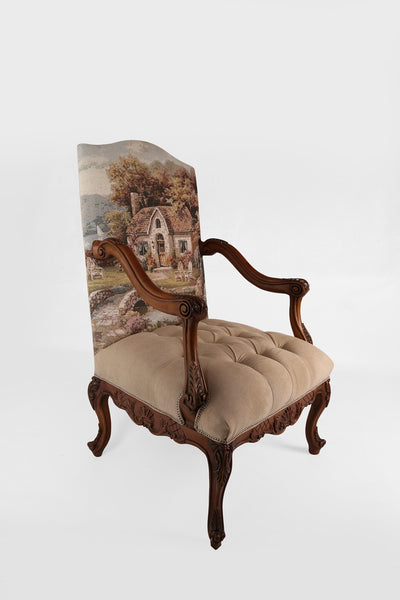Tufted traditional armchair (2-CHAIR SET)