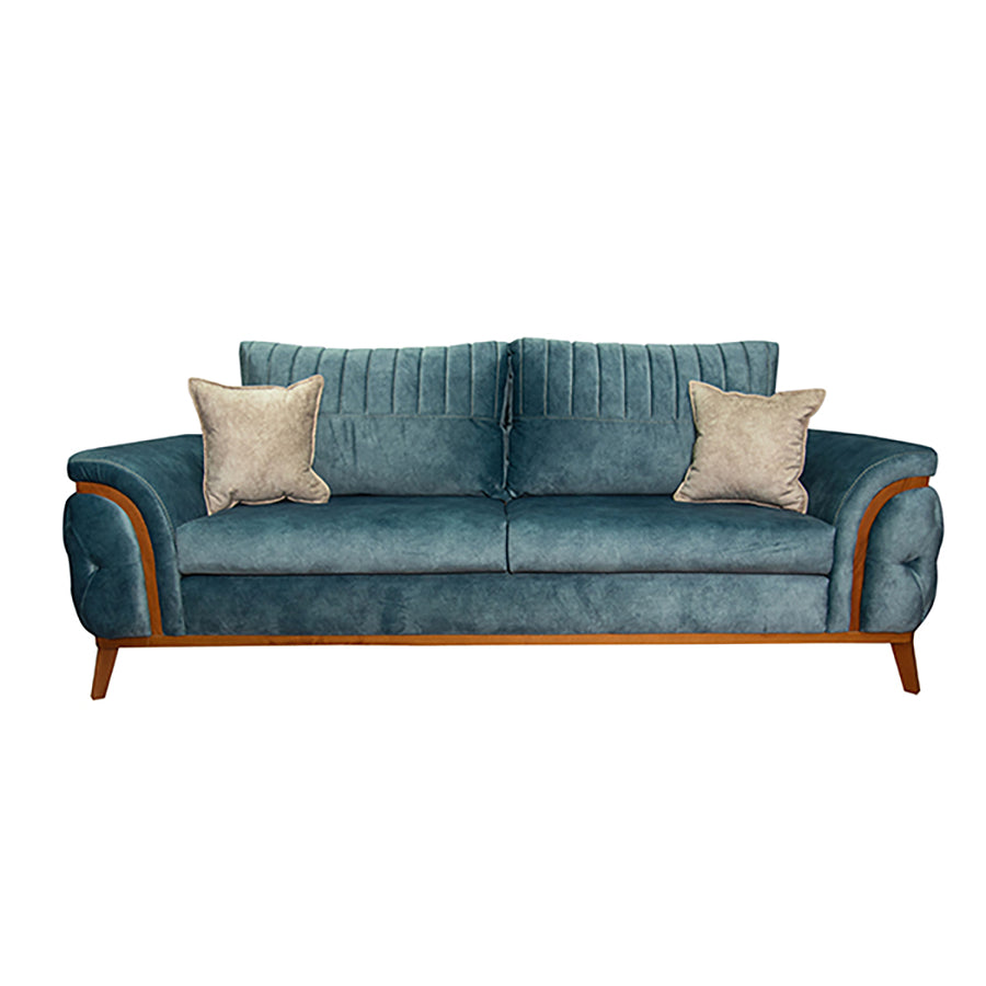 Deep seated velvet living room (4 pieces)