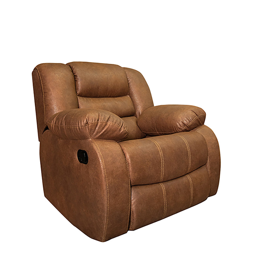 Brown leather living room (4 pieces)