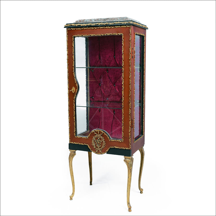 Louis XV ormolu-mounted vitrine 19th century style