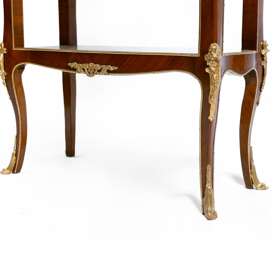 Louis XIV style inlaid writing desk