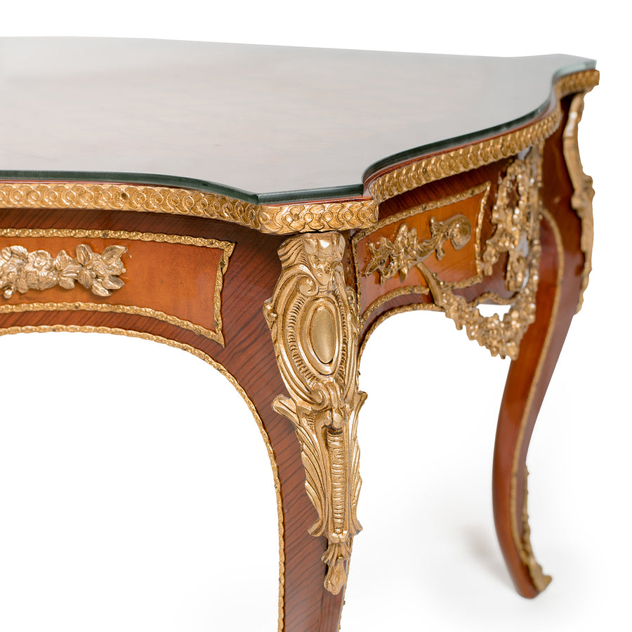 Louis XV ormolu mounted center table