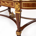 French louis XVI Marquetry Inlaid table (3 set)