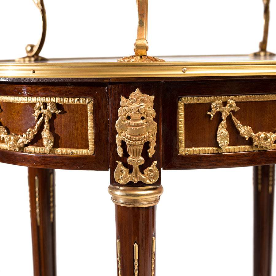 French Louis XV ormolu mounted tea cart