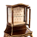 French style ormolu mounted glass vitrine cabinet and Vernis Martin