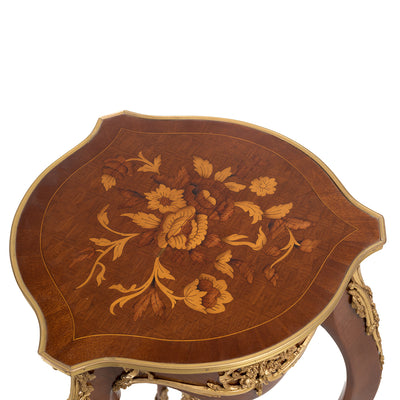 Pair of French Empire Marquetry Inlaid side table (2 SET)