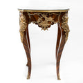 Louis XV style ormolu mounted and marquetry inlaid side table