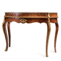 French Empire console table with marble top