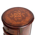 French Marquetry inlaid round 7 drawers chest (tall)