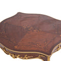 Square Louis XV style ormolu mounted center table