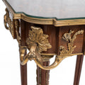 Pair of French Louis XVI style ormolu mounted side tables (2 set)