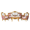 Luxury gold gilded Victorian style living room (6 pieces)