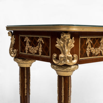 Louis XVI style ormolu mounted console table