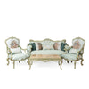 Louis XV style living room with flower bouquet back (5 pieces)